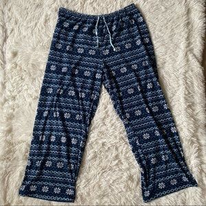 ◾️3/$25 Carole Hochman Winter Print Pajama Pants